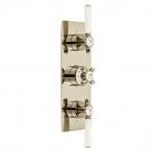 Bateria prysznicowa 3-drożna podtynkowa z termostatem - Booth&Co. - Axbridge - BC-AXB-128/3-BN