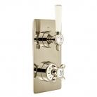 Bateria prysznicowa 1-drożna podtynkowa z termostatem - Booth&Co. - Axbridge - BC-AXB-148-BN
