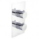 Bateria prysznicowa podtynkowa, 2-drożna, z termostatem - Bagnodesign London z kolekcji Koy - BDM-KOY-T302-A-CP