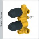 Element podtynkowy baterii prysznicowej, 2-drożnej, z termostatem - Bagnodesign London z kolekcji Koy