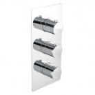 Bateria prysznicowa podtynkowa, 3-drożna, z termostatem - Bagnodesign London z kolekcji Koy - BDM-KOY-T303-A-CP