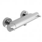 Bateria prysznicowa naścienna z termostatem - VADO z kolekcji Celsius (ZOO) - CEL-149-1/2-C/P