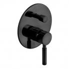 Bateria prysznicowa podtynkowa, jednouchwytowa, z przełącznikiem - INDIVIDUAL by VADO - Czarny Szczotkowany (matowy)