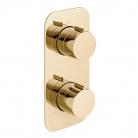 Bateria prysznicowa termostatyczna, podtynkowa, 2-drożna - INDIVIDUAL by VADO - Złoto Polerowane