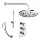 Zestaw prysznicowy z termostatyczną baterią podtynkową - BAGNODESIGN - PACK-F-KOY3-CP