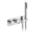 Bateria prysznicowa 2-drożna z termostatem i zest. prysznicowym - VADO - Tablet iO - TAB-148/2WO-ALT-CP
