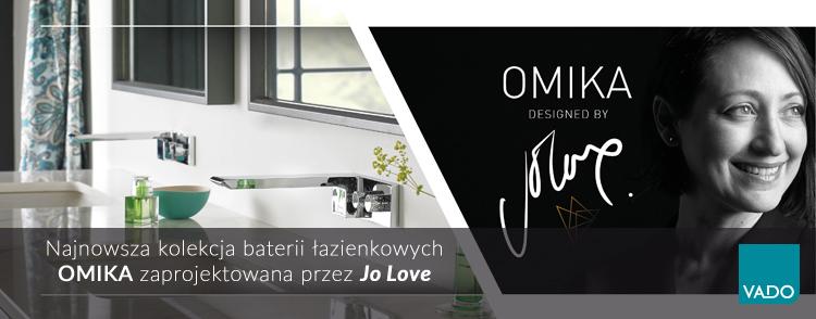 OMIKA - Najnowsza kolekcja baterii łazienkowych w ofercie VADO, projekt Jo Love