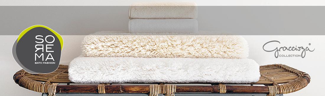 Luksusowe ręczniki premium portugalskiej firmy Sorema - kolekcja Graccioza
